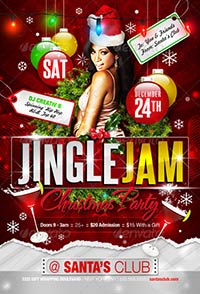 Jingle Jam Christmas Party Flyer