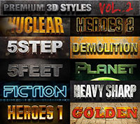 Grunge Text Effects - Bundle