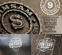 Photorealistic Logo Mock-Ups Vol.1