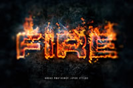 Hot Lava and Fire Layer Styles Pack Fx