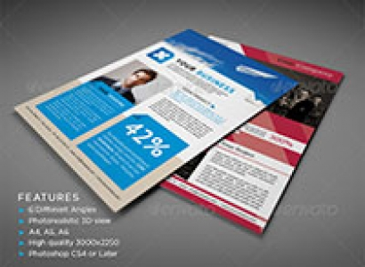 Photorealistic Flyer Mock-ups