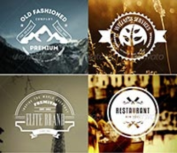 Vintage Labels & Badges Logos Bundle