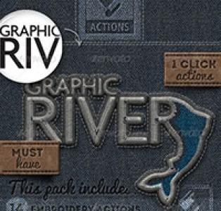 Fabric and Embroidery Photoshop Creation Kit