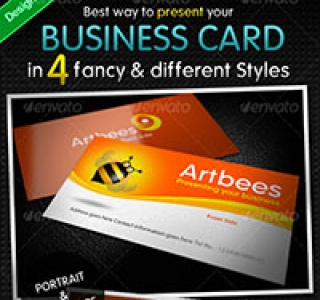Great Business Card Mock-up Pack - 4 Styles