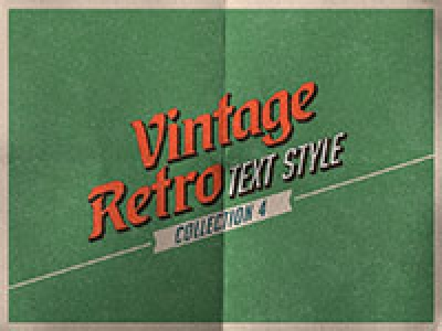 Vintage/Retro Text Col 4