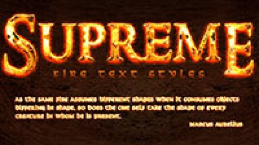 Supreme Fire Text Effects
