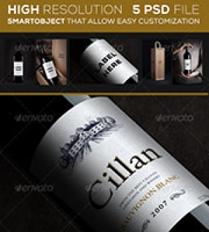 Wine Bottle Mock up