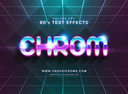 80s Digital Text Effects