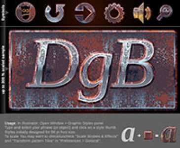 Illustrator Graphic Styles - Rusted metal