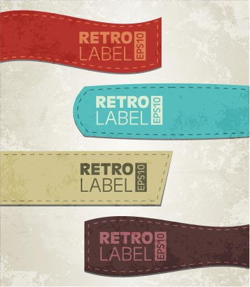 Vector retro grunge labels