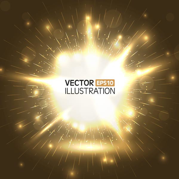 Vector abstract fireworks