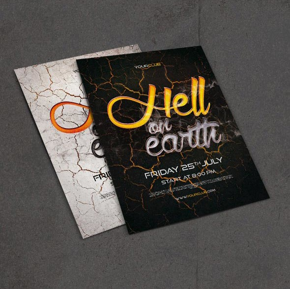 Hell flyer PSD