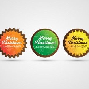 Vector colorful badges