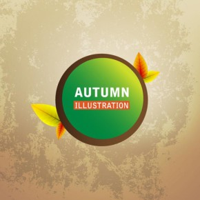 Vector autumn illustration