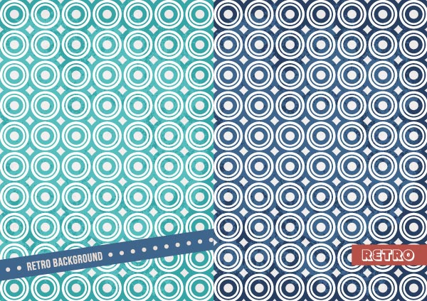 Two retro vector backgrounds