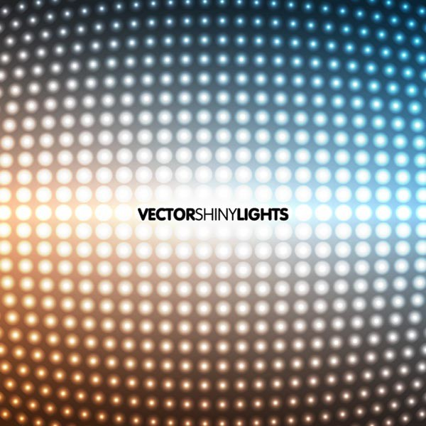 Vector shiny lights