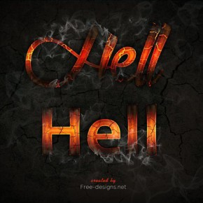 Photoshop Fire Text Effects