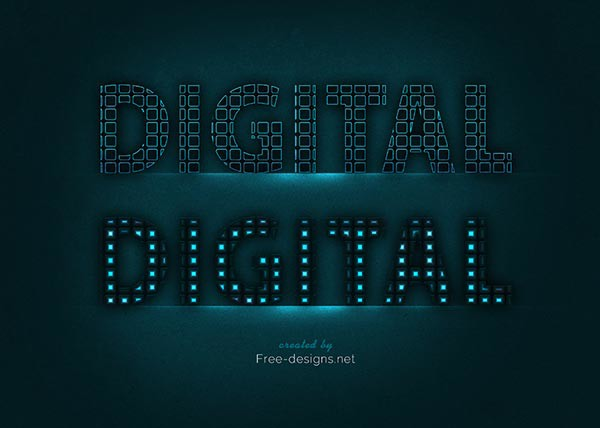 Text Designs Photoshop Photoshop Digital Text Effects