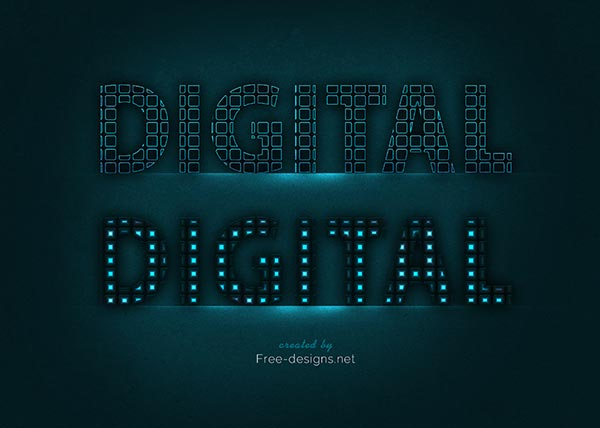 Digital text effects