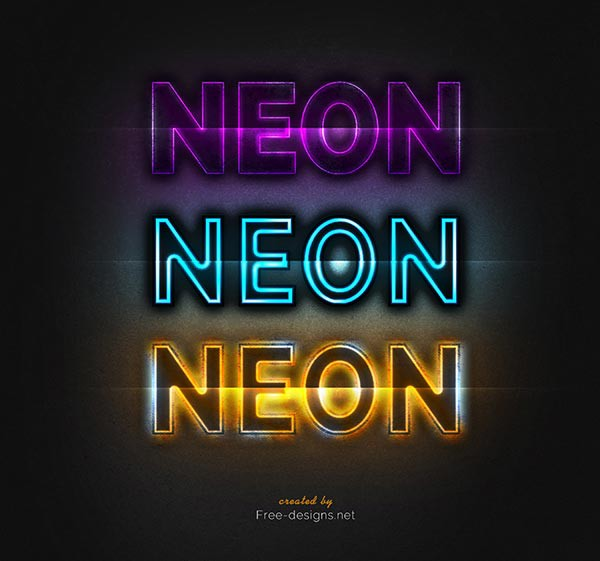 Photoshop Neon Text Effects - Free Graphic Designs