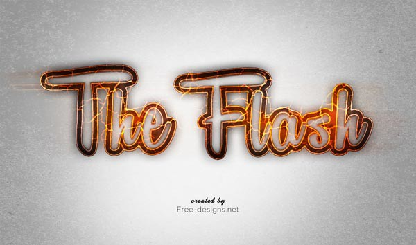 Flash Text Effect