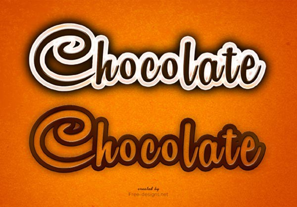 Photoshop Chocolate Text Effect