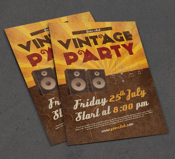 Photoshop vintage flyer
