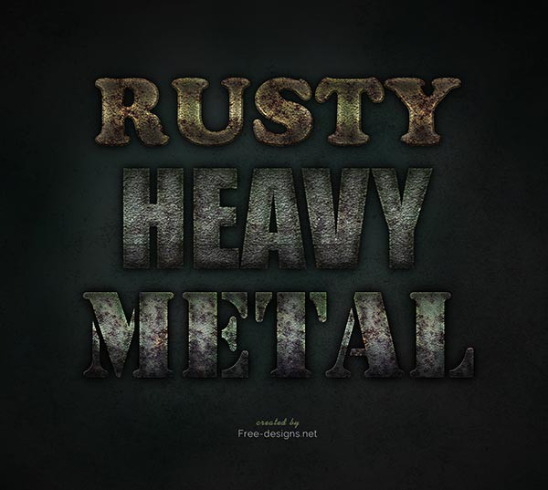 Photoshop Rusty Text Effects