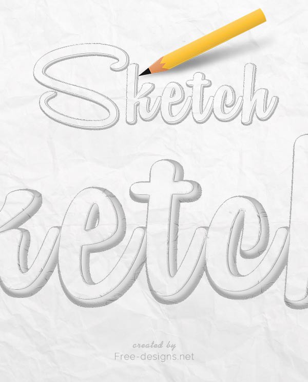 Photoshop Sketch Text Effects