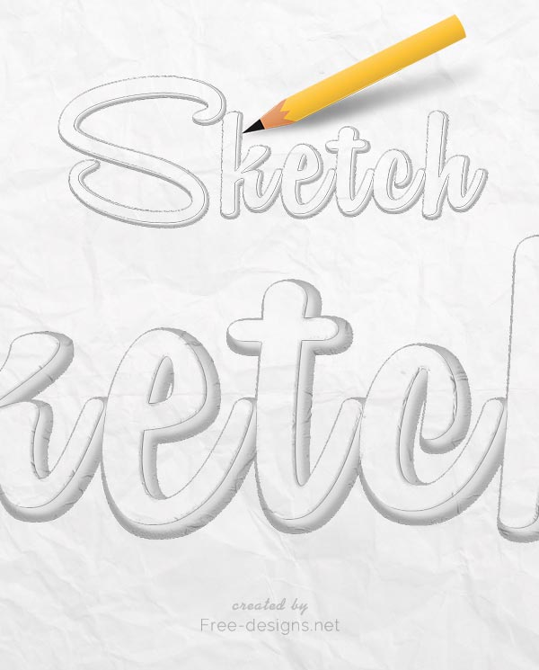 Sketch Text Effects