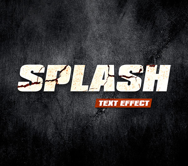 splash text effect