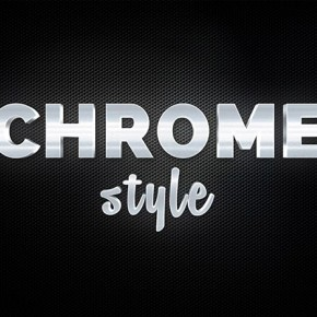 Chrome Text Effect