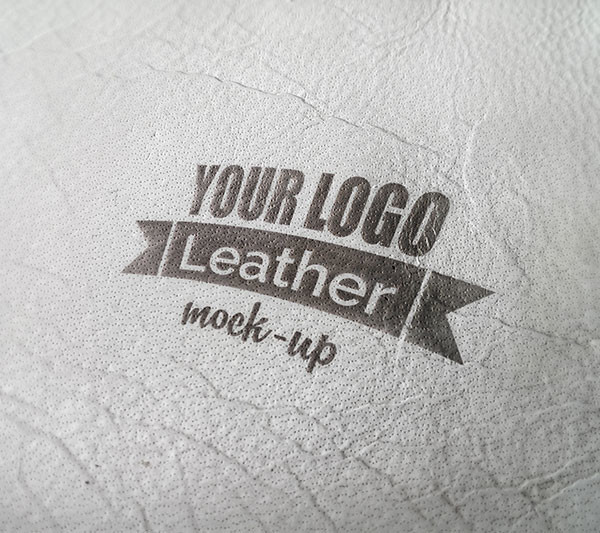 Photorealistic Leather MockUp PSD