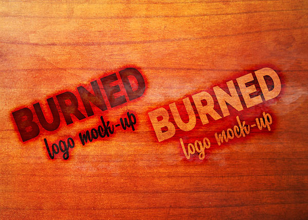 Burned Logo MockUp