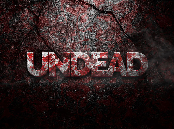 Undead-3D-PSD-Text-Effect