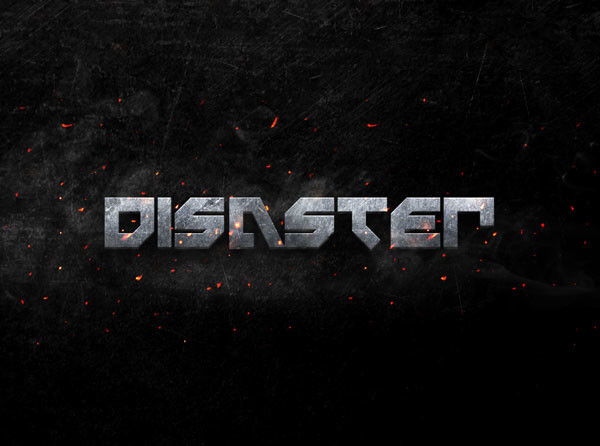 Disaster Metal 3D Text Effect - Free Designs
