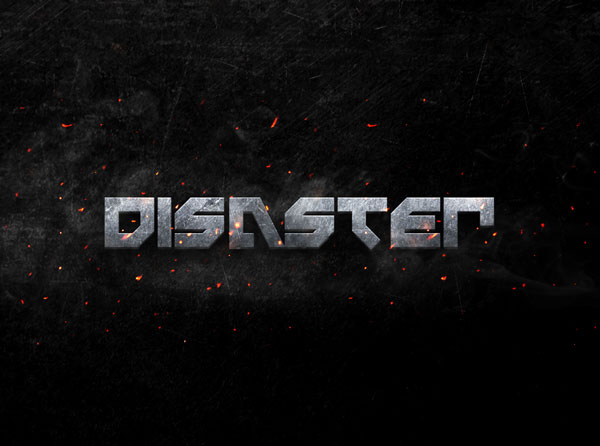 disaster-metal-3d-text-effect