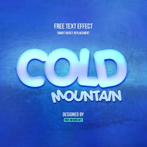 PSD Cold Text Effect