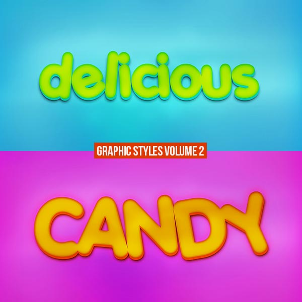 Graphic Styles Text Effects PSD Vol 2