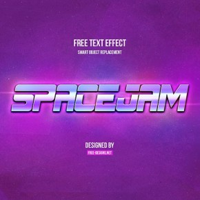 Free PSD Space Text Effect