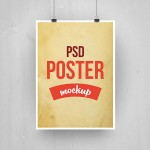 Paper Poster Mockup PSD
