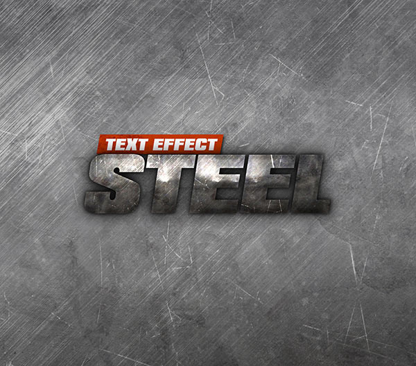 Steel Text Effect Psd Free Designs