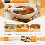 Food & Restaurant Free Website Template PSD