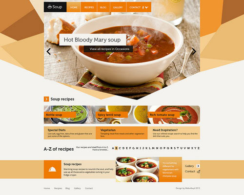 food restaurant free website template psd free graphic designs