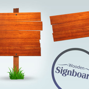 Free Wooden Signboard PSD