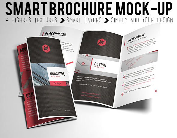 Tri fold brochure template mockup free mockups freedesigns for Brochure design psd templates