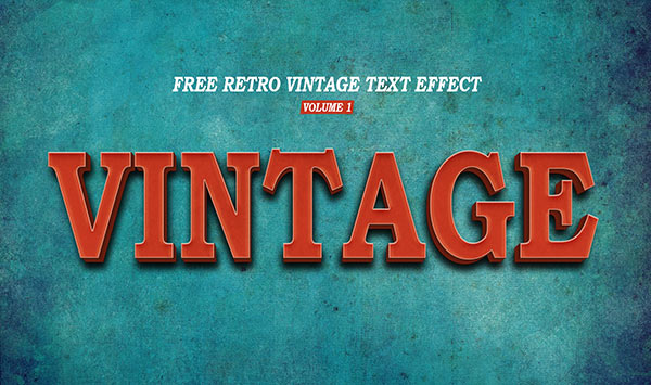 Retro Vintage Text Effect Volume 1