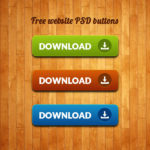 Website Download Buttons Free PSD
