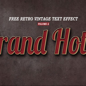 Retro Vintage Text Effect Volume 2