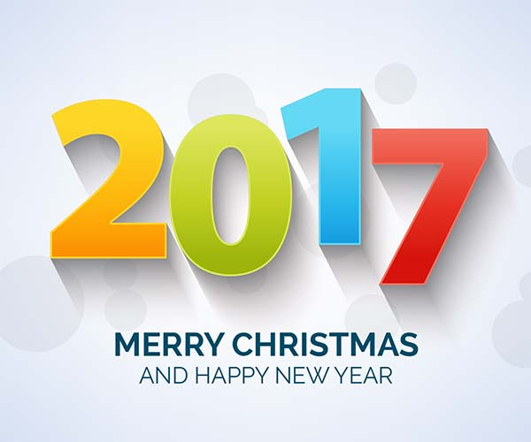 Happy New Year 2017 Free Vector